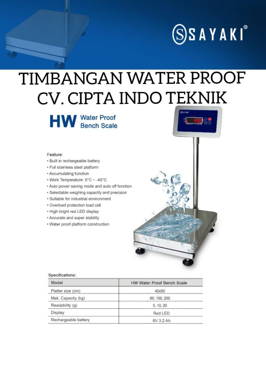 TIMBANGAN  WATERPROOF MERK SAYAKI